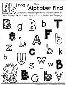 "Free ""find the letter"" alphabet worksheets! - The Measured Mom"