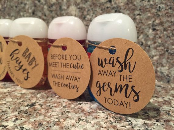 Hand Sanitizer Tag Customized Tags Baby Shower Favor In 2020