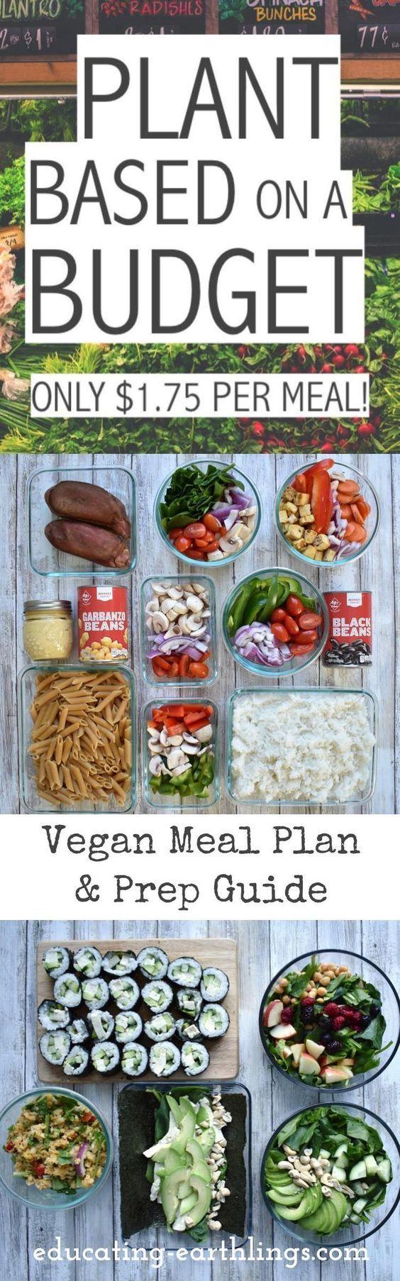 Plant Based On A Budget Vegan Meal Plan Vegan Meal Plans Vegan Cookbook Plant Based Diet