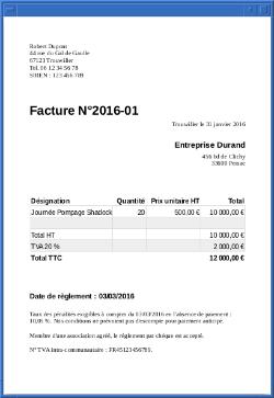 Modele De Facture Modele Facture Modele De Facture Gratuit Exemple Facture