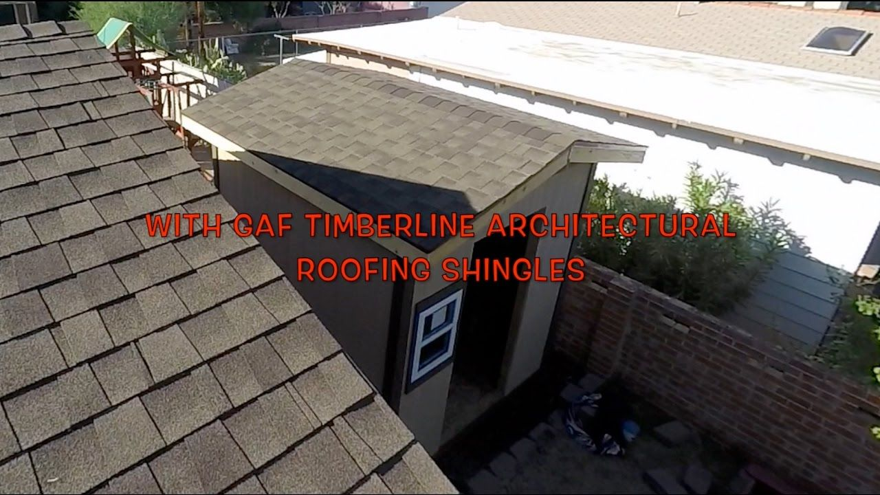 INSTALLING ROOFING SHINGLES GAF TIMBERLINE YouTube