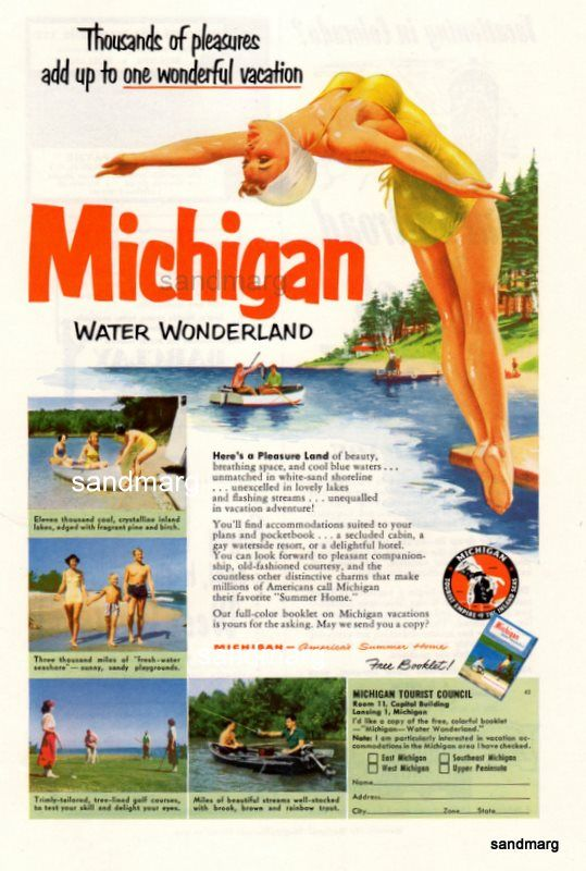 Vintage Advertisement for Michigan!