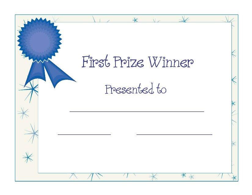 Baby Shower Award Certificate Baby In 2019 Certificate Award