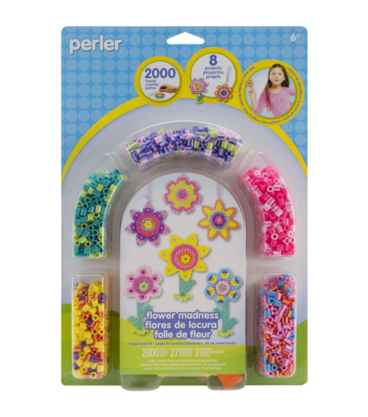 a01937818 Perler Bead Set - Flower Madness | Products | Bead kits, Fuse beads ...