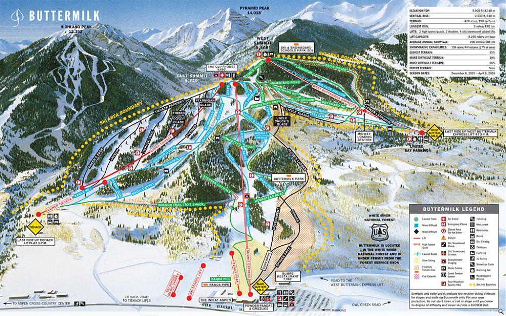 Buttermilk aspenthe ideal mountain for beginners and