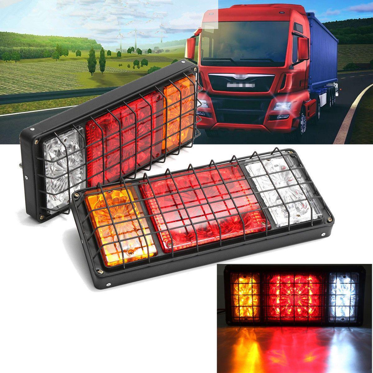 2x Led Feux Arriere Lampe Indicateur Freinage Inversion Remorqueur Caravan 24v Ebay With Images Car Bus Tail Light