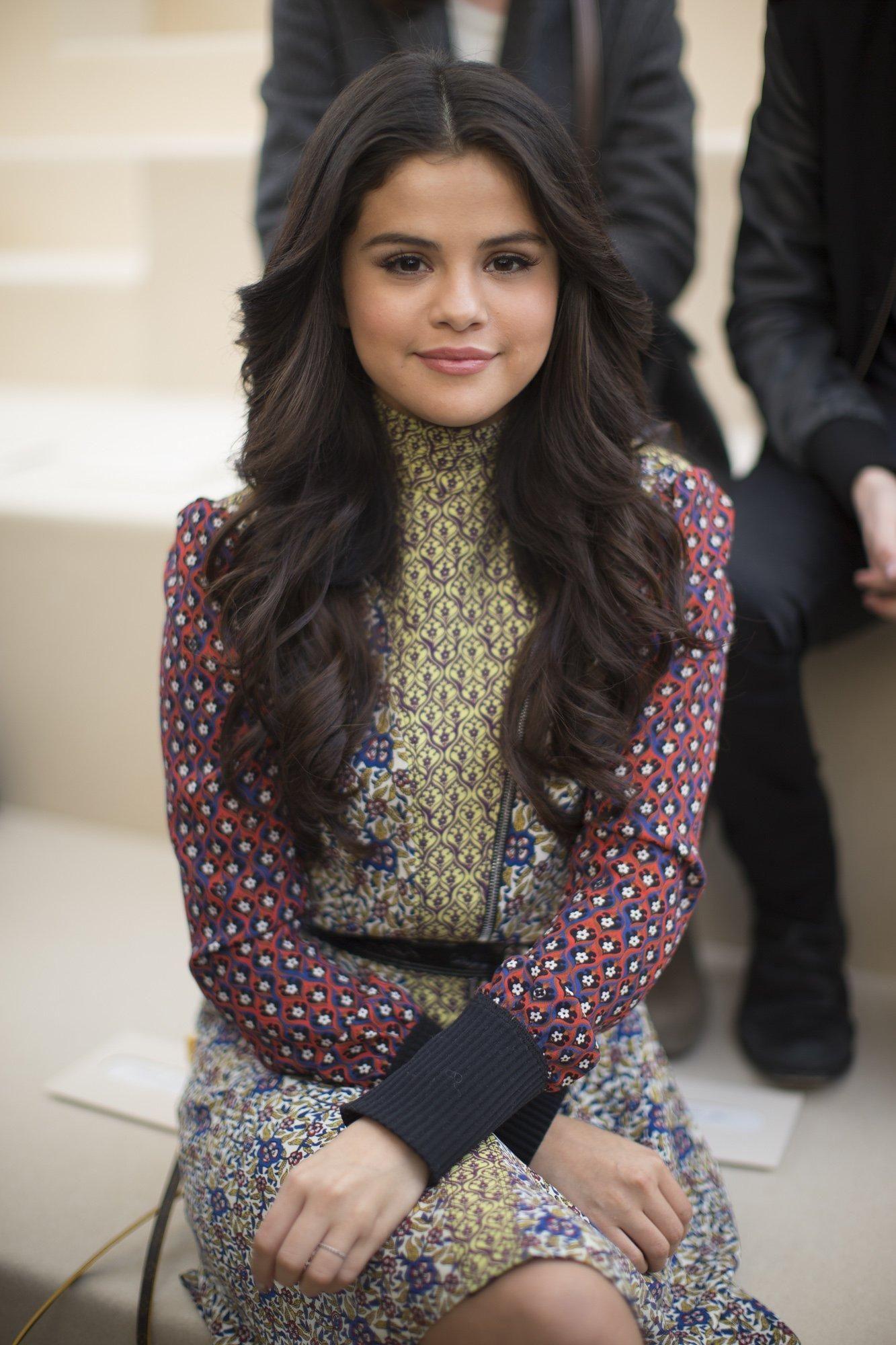 Selena Gomez backstage at Louis Vuitton fall 2015 RTW ...