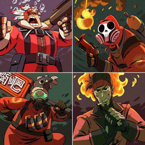 opl)_making drawings move   Gaming   Team fortress 3, Team