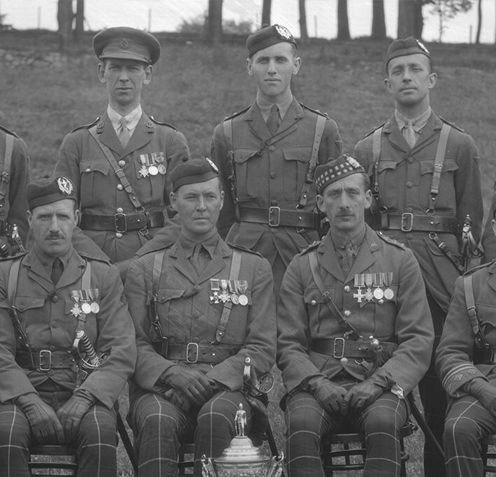 Officers of the Cameronians 28 August 1927