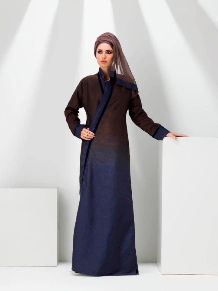 81e2a031a14 Ombré linen abaya from Lomar