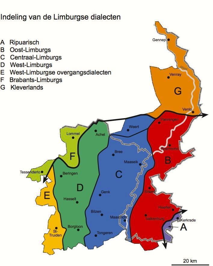 Indeling van de Limburgse dialecten httpwwwwillydolsstichting