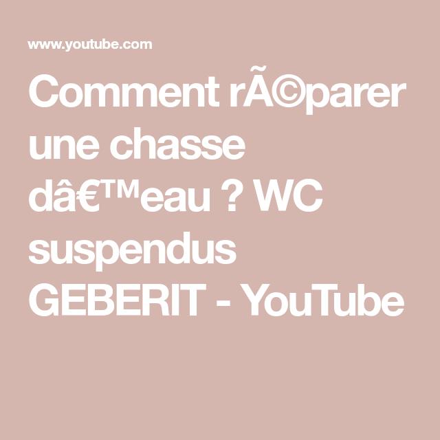 Comment Ra C Parer Une Chasse Da Eau Wc Suspendus Geberit Youtube
