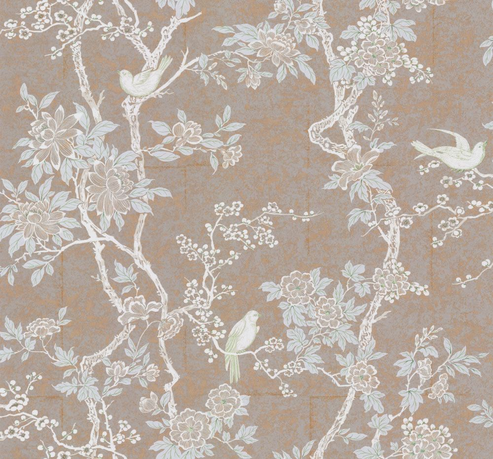 Marlowe Floral By Ralph Lauren Sterling Wallpaper Lwp30571w