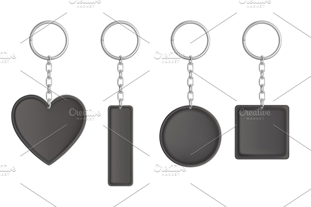 Vector Black Leather Keychain In 2020 Leather Keychain Keychain Leather