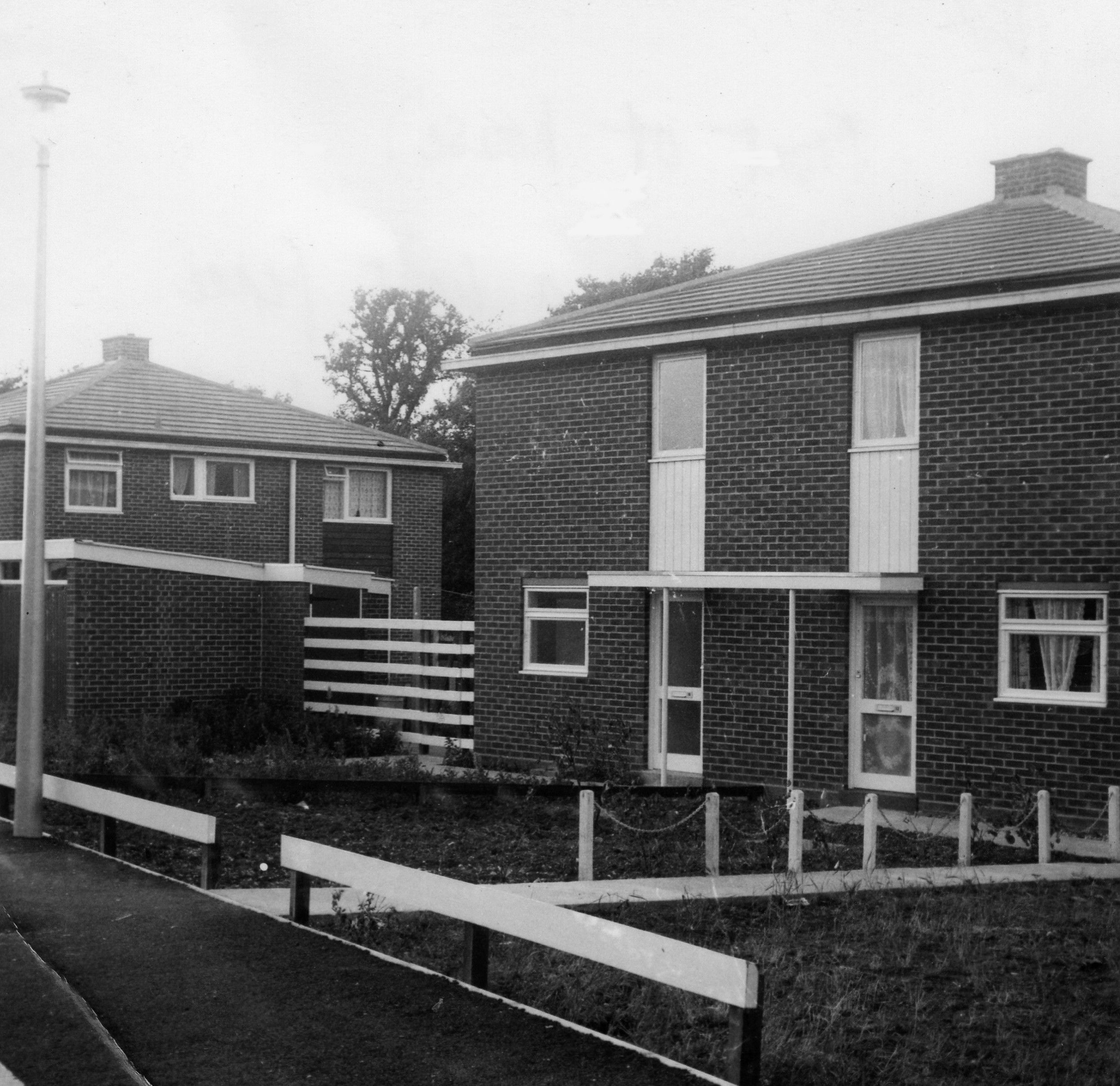 Houses In Springbrook In Eynesbury When They Were New In 1963