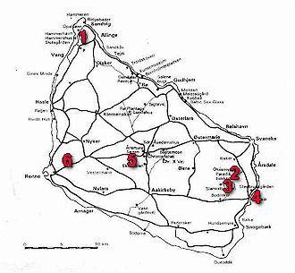 Mines On Bornholm 1 Moselokke 2 Paradisbakkerne 3 Helletsgard 4