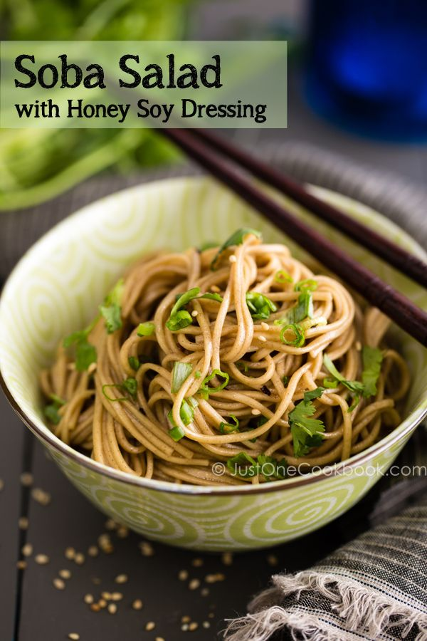 Recipes Just One Cookbook Recipe Soba Salad Easy Japanese Recipes Soba Noodles Salad