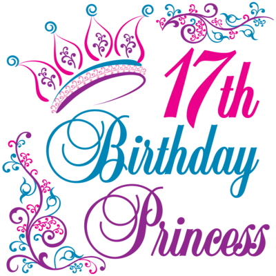 17th Birthday Princess Invitations | 17 birthday