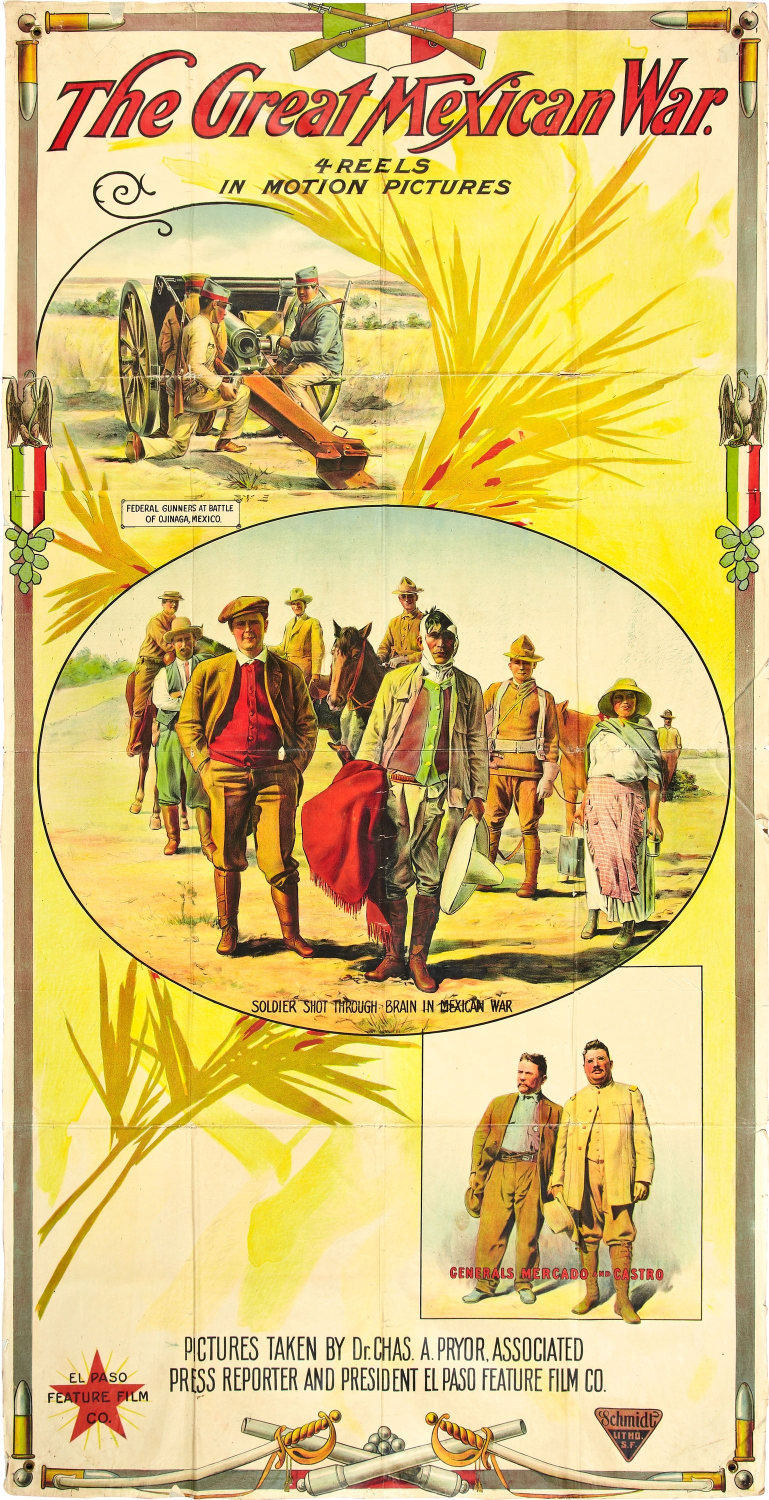 1914 - THE GREAT MEXICAN WAR - Charles A  Pryor | Cine