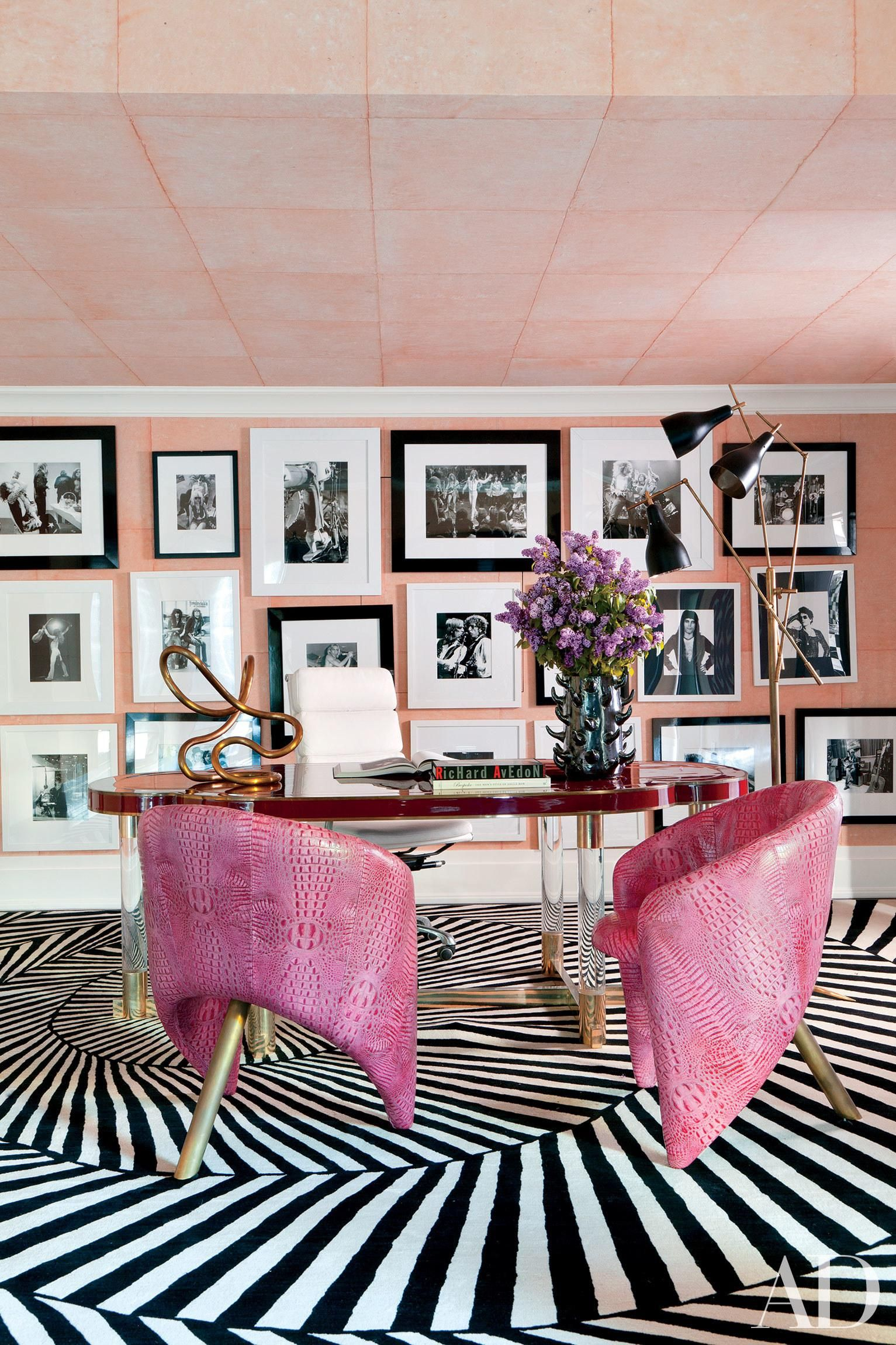 20 Trendy Ideas For A Home Office With Skylights: 9 Rooms That Unabashedly Showcase Pink In 2020
