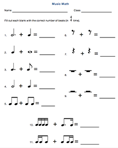 Music Math Worksheets Assessments Beth S Notes Music Math Music Worksheets Teaching Music