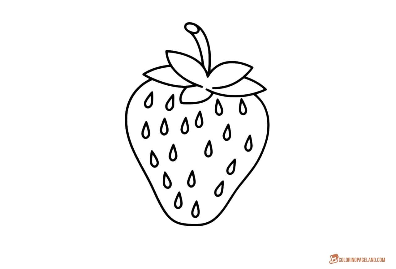 Strawberry Coloring Pages Downloadable And Printable Images