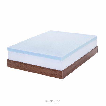 Lucid 3 Inch Ultra Plush Ventilated Gel Memory Foam Mattress
