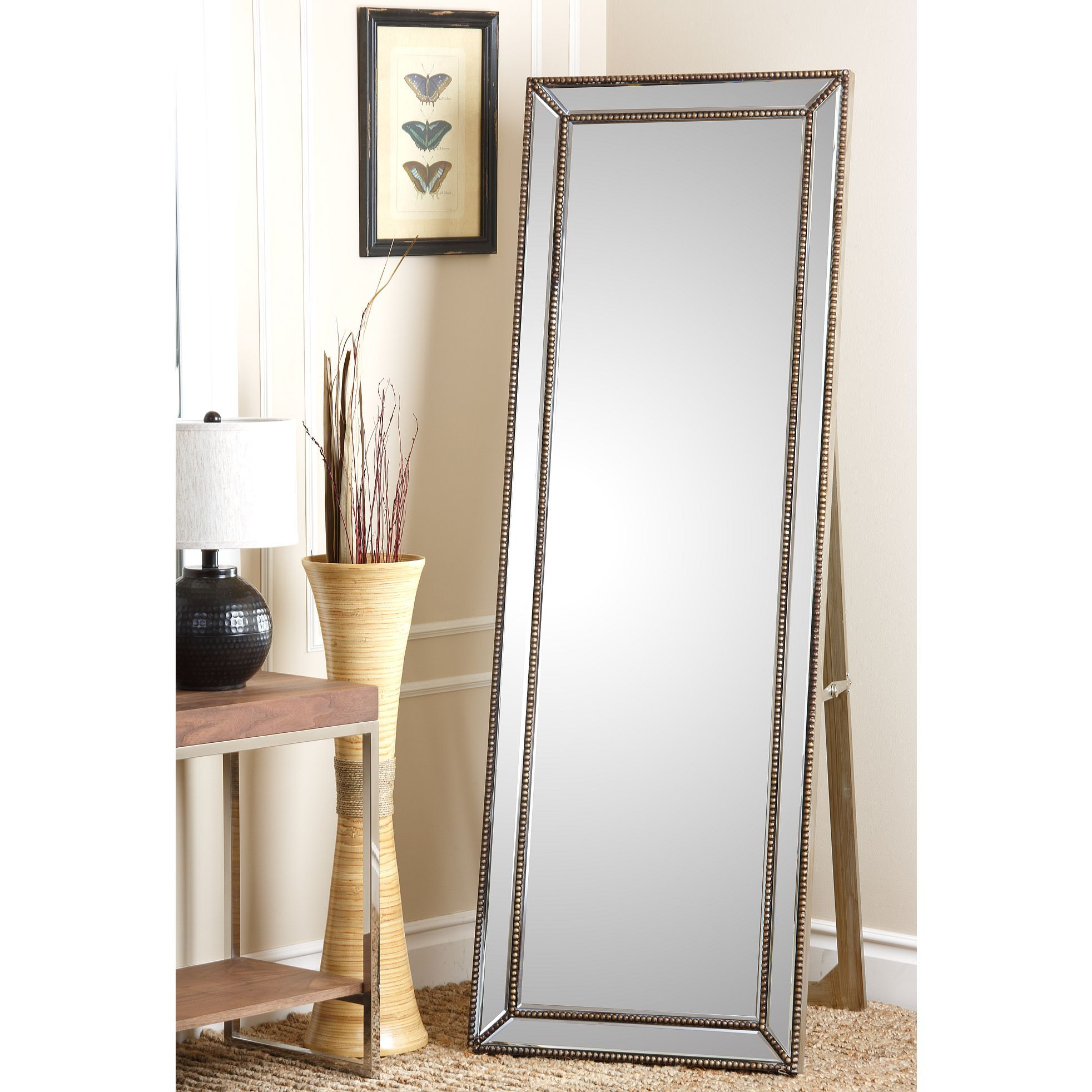 Add a new look to any space with the elegant cosmo floor for Standing mirror frame