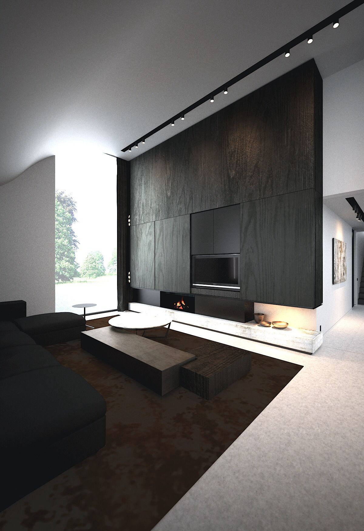 Interior Architecture Fire Place Salotti Minimalisti Interni