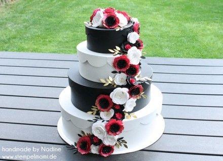 Stampin Up Verpackung Hochzeit Torte Box Karte Wedding Cake Paper