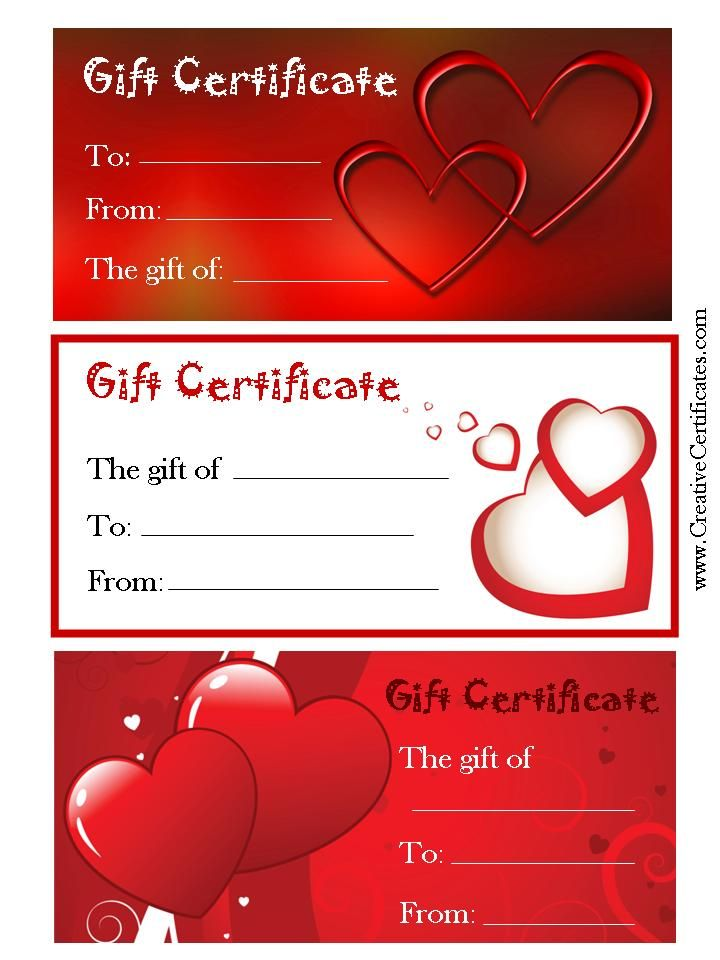 Valentine S Gift Certificates Gift Certificate Template Gift Certificate Template Word Free Gift Certificate Template