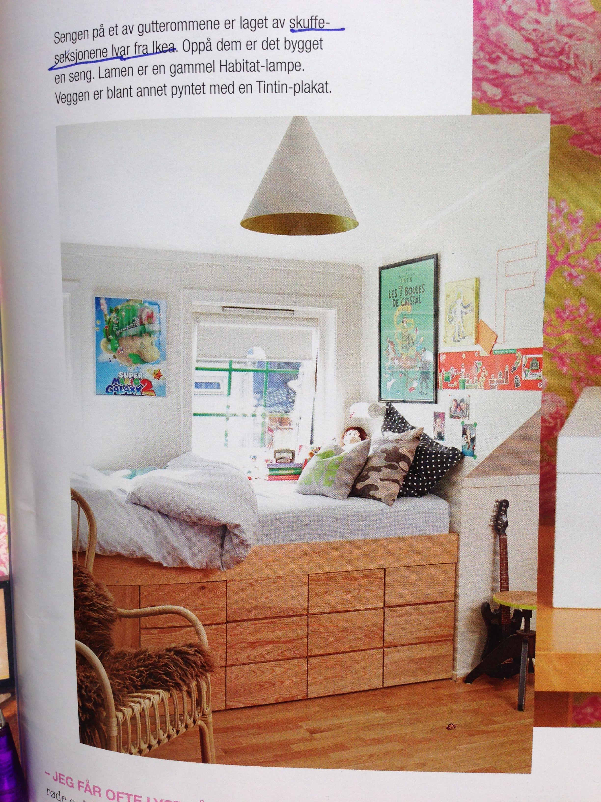 Seng av skuffeseksjonen ivar ikea kinderzimmer for Ikea kleines schlafzimmer