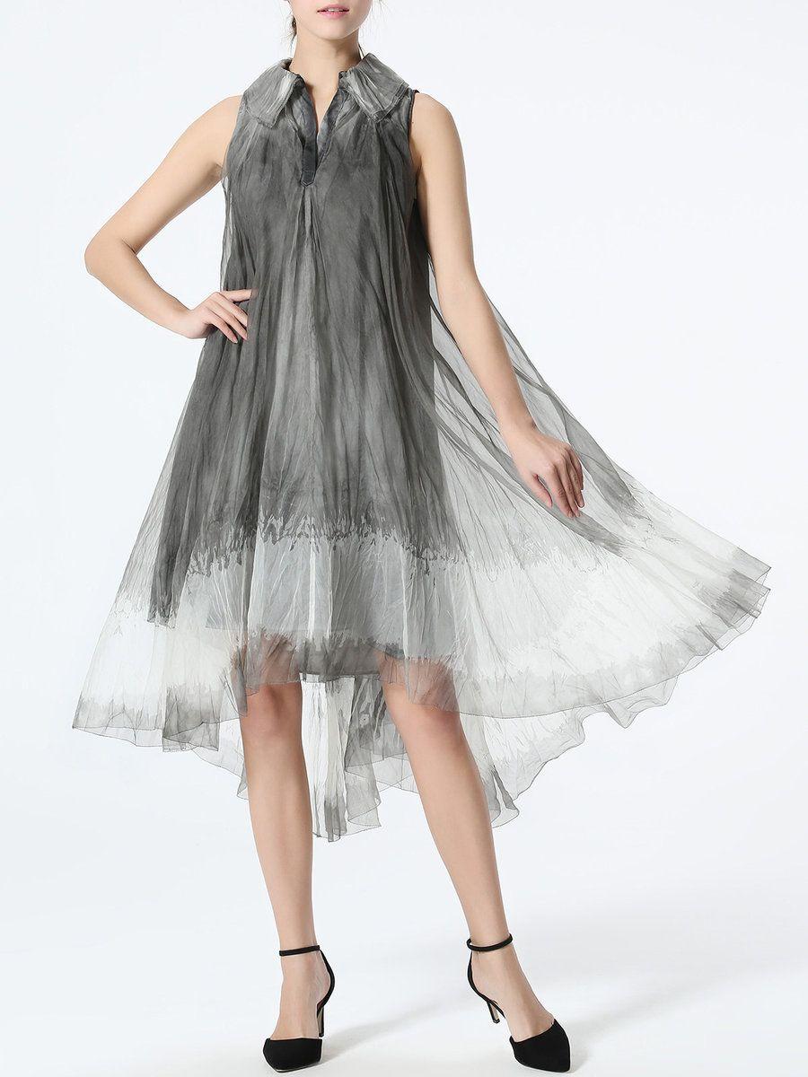 Adorewe stylewe midi dresses designer taoyanshuo gray gradient