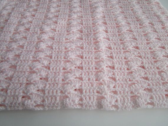 Interlocking Shell Stitch Crochet Baby Blanket, Shell Stitch, Baby ...