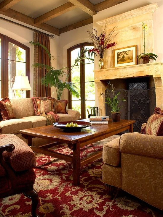 Italian Living Room Design: British Colonial Living Room