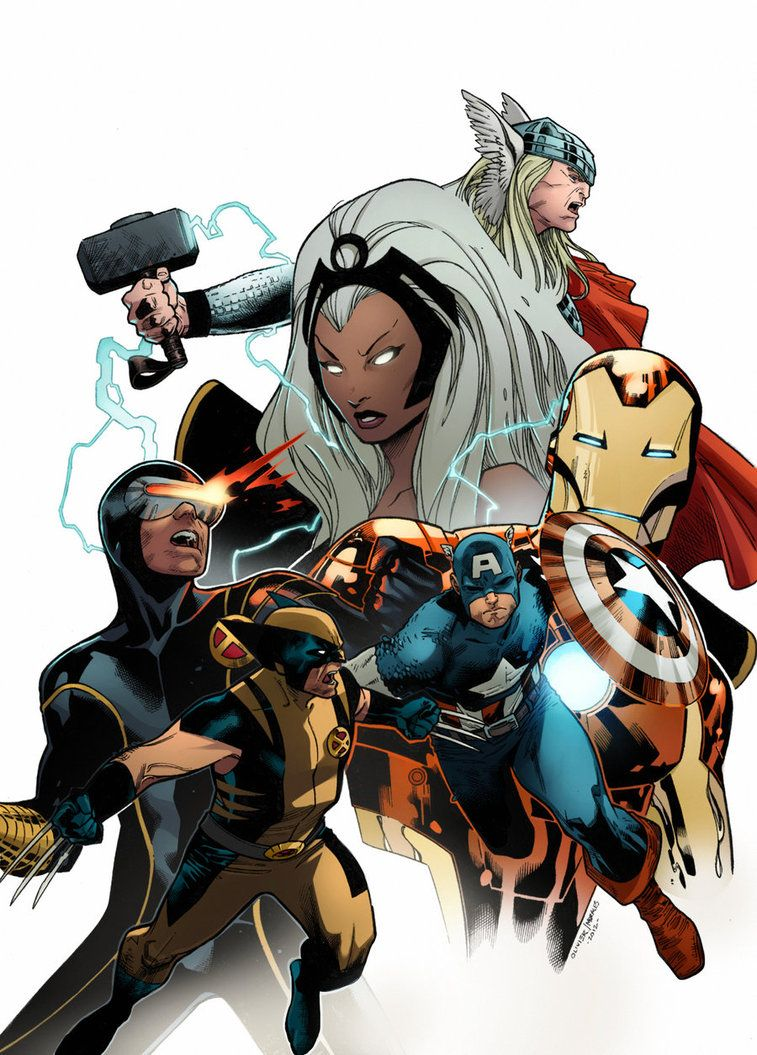 Coipel Marvel Heroes by *SpicerColor