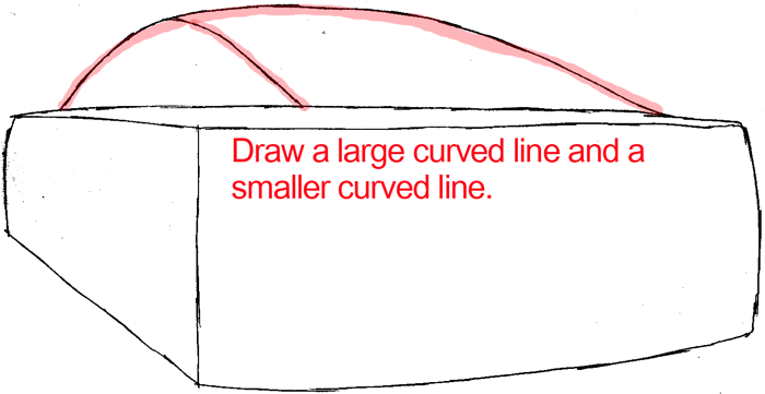 how to draw the back of a car easy