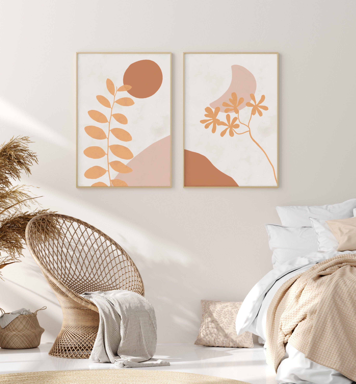 Sun And Moon Art Above Bed Art Gallery Wall Set Feminine Etsy Boho Wall Decor Art Above Bed Feminine Wall Art
