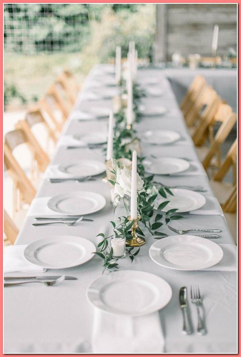 Find Out How To Gild Your Wedding Reception Without Spending A Lot Of Money Use Thes In 2020 Green Wedding Centerpieces Wedding Floral Centerpieces Long Table Wedding