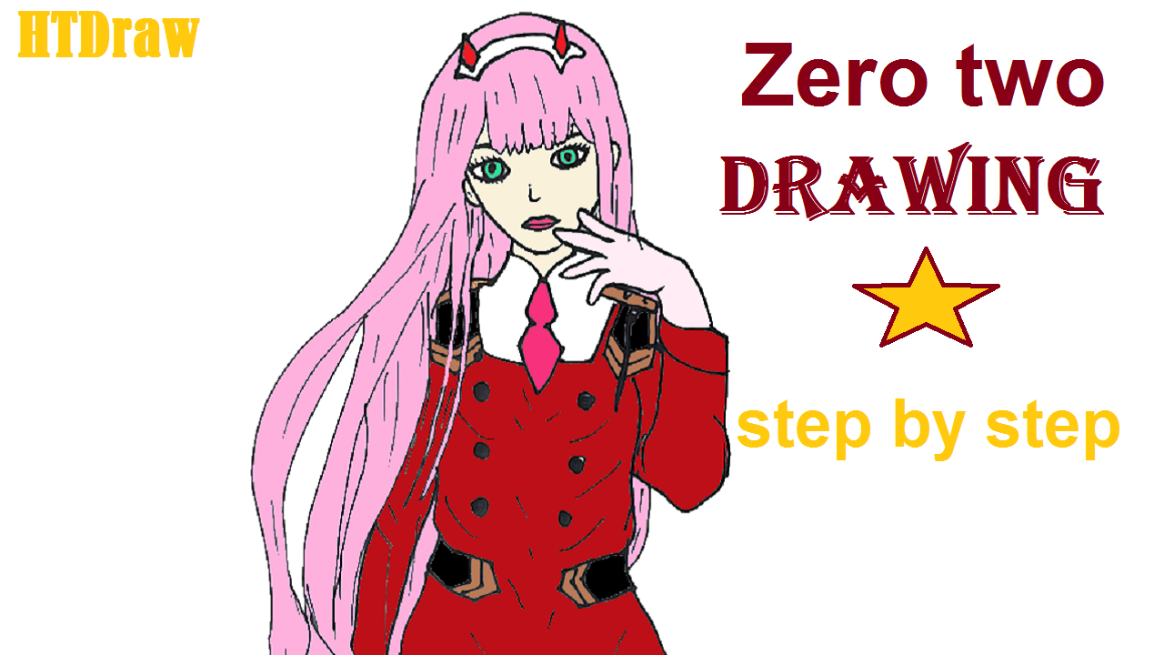 How To Draw Zero Two Darling In The Franxx Step By Step How To Draw Zero Two Step By Step With This How To Girl Drawing Easy Zero Two Step By