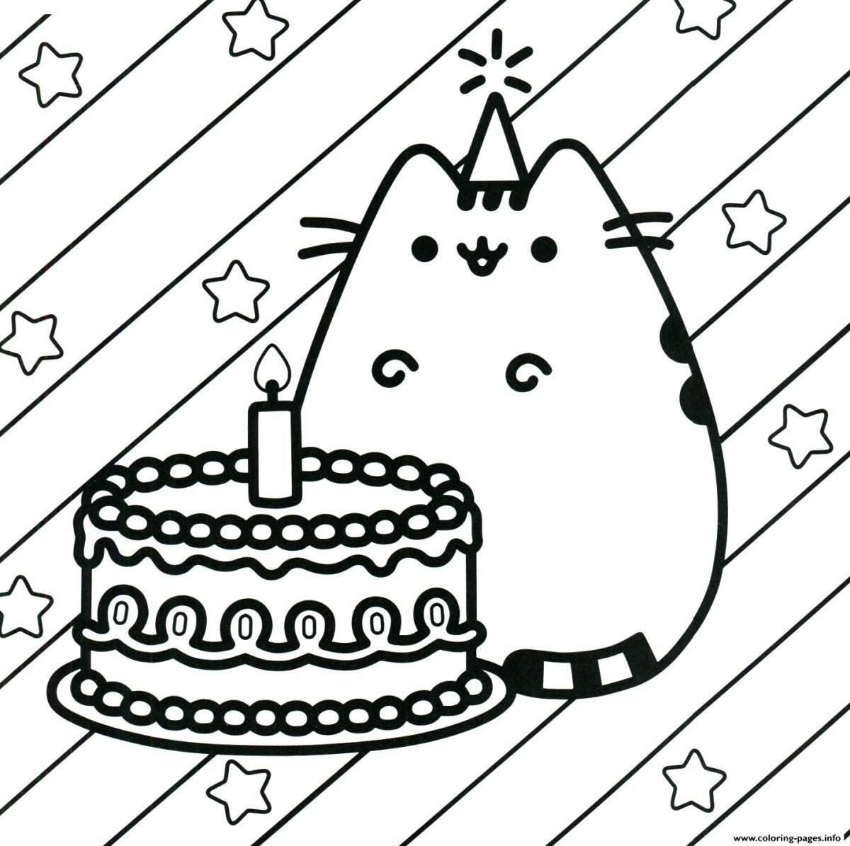 Printable Birthday Coloring Pages Pusheen Cake Happy Birthday Coloring Pages Printable Entitlementtrap Com Birthday Coloring Pages Happy Birthday Coloring Pages Unicorn Coloring Pages