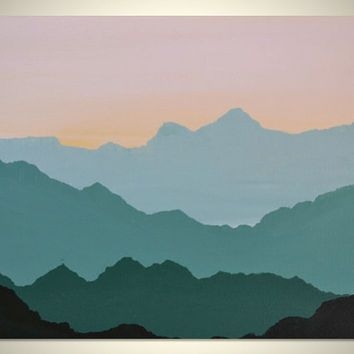 Mountain Wall Painting Mountain Mural Inspiration Really Like The