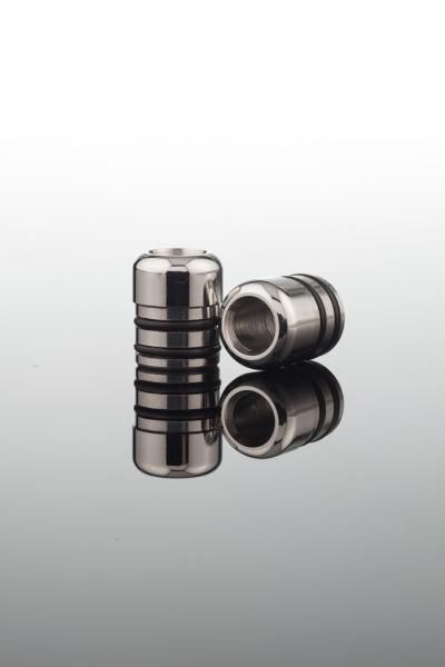STR5. 5mm drip tip from Stainless Steel 304L (food grade). With double O-rings.