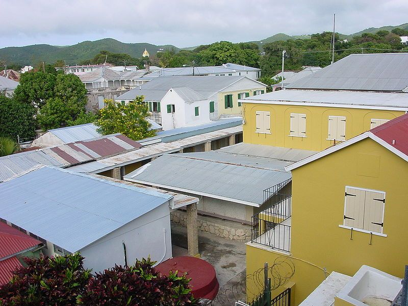 Roof tops in Frederiksted Car rental, House styles, St
