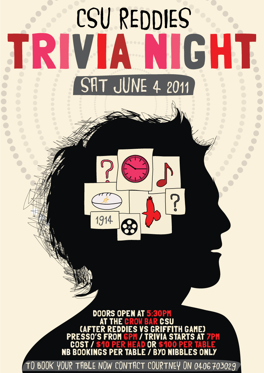 Print Csu Reddies Trivia Night Trivia Night Trivia Night Flyer Trivia