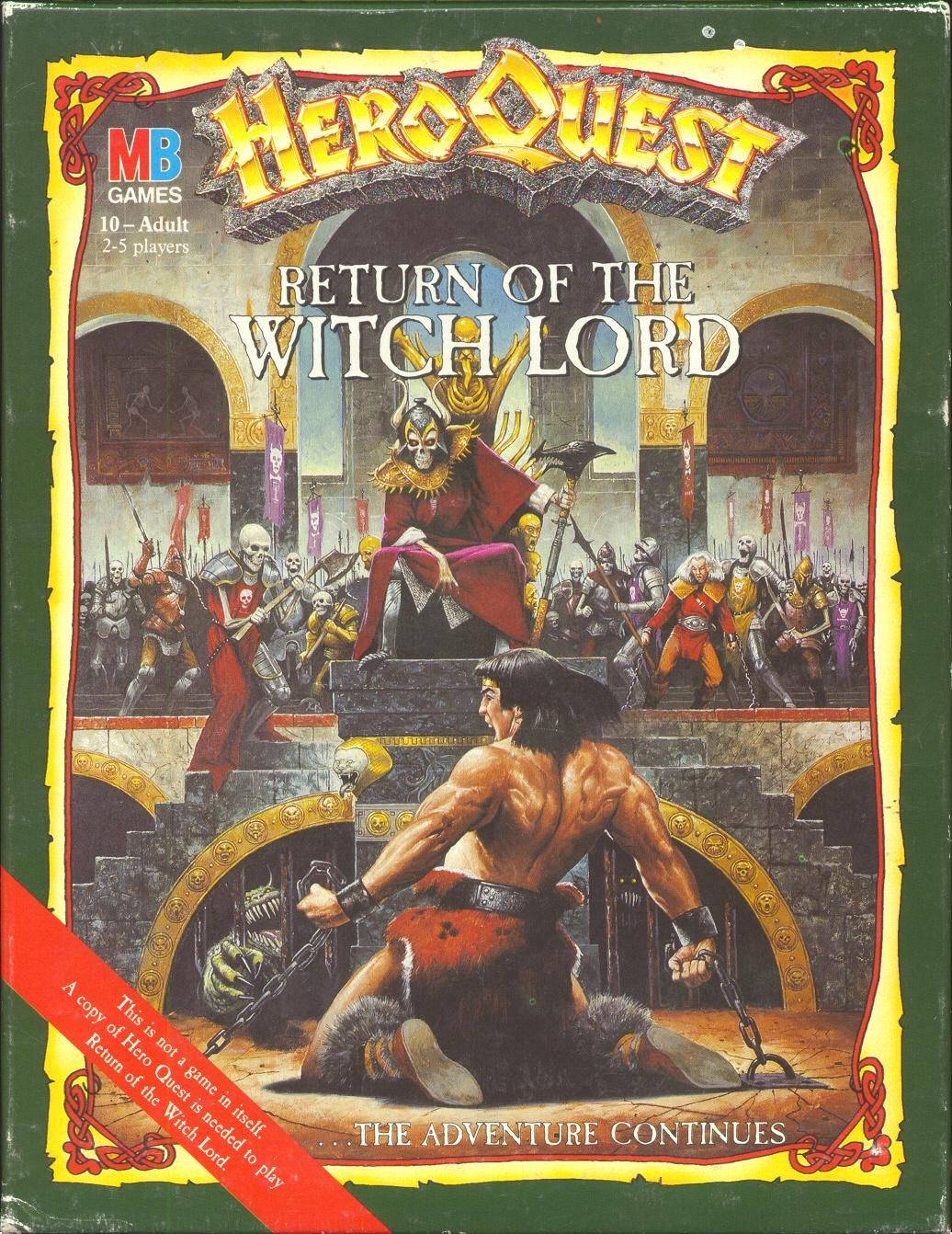 Hero Quest Return of the Witch Lord box artwork