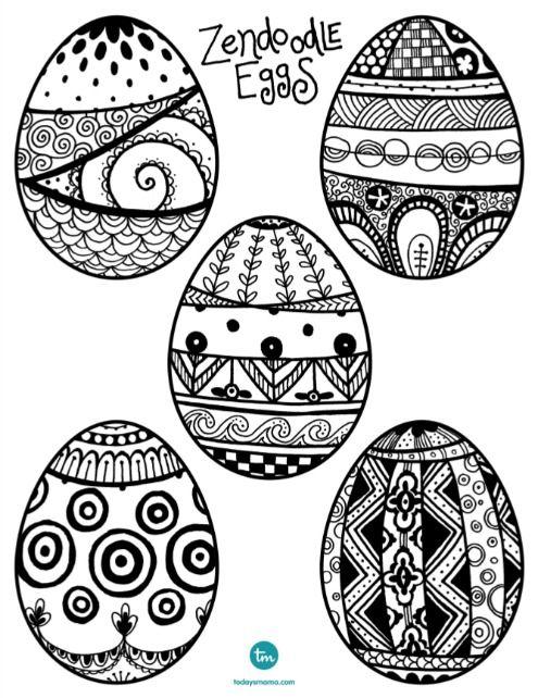 Zendoodle Easter Egg Coloring Pages Easter Egg Coloring Pages Coloring Easter Eggs Coloring Eggs