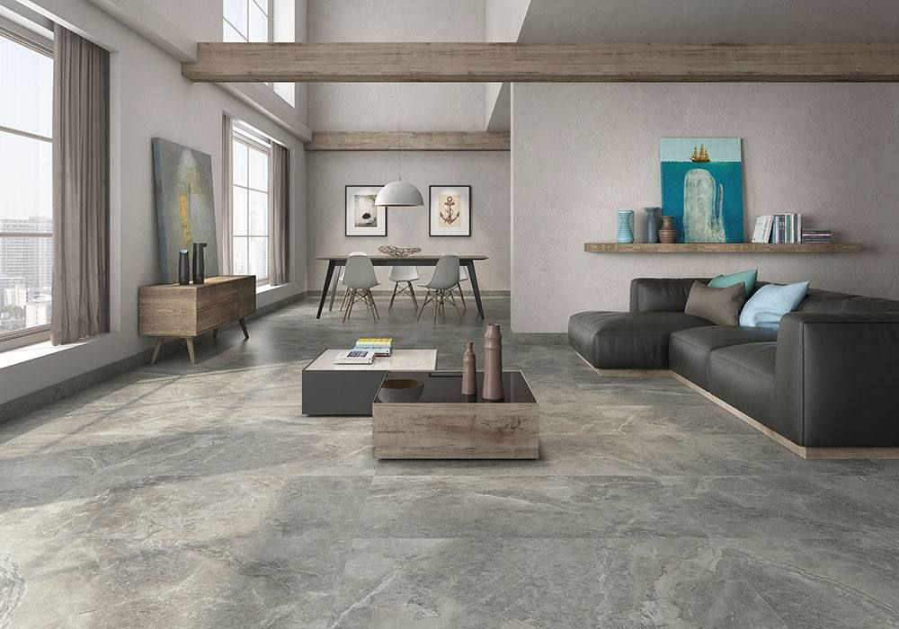 Create A Designer Living E With The Latest Large Format Porcelain Tiles Featured