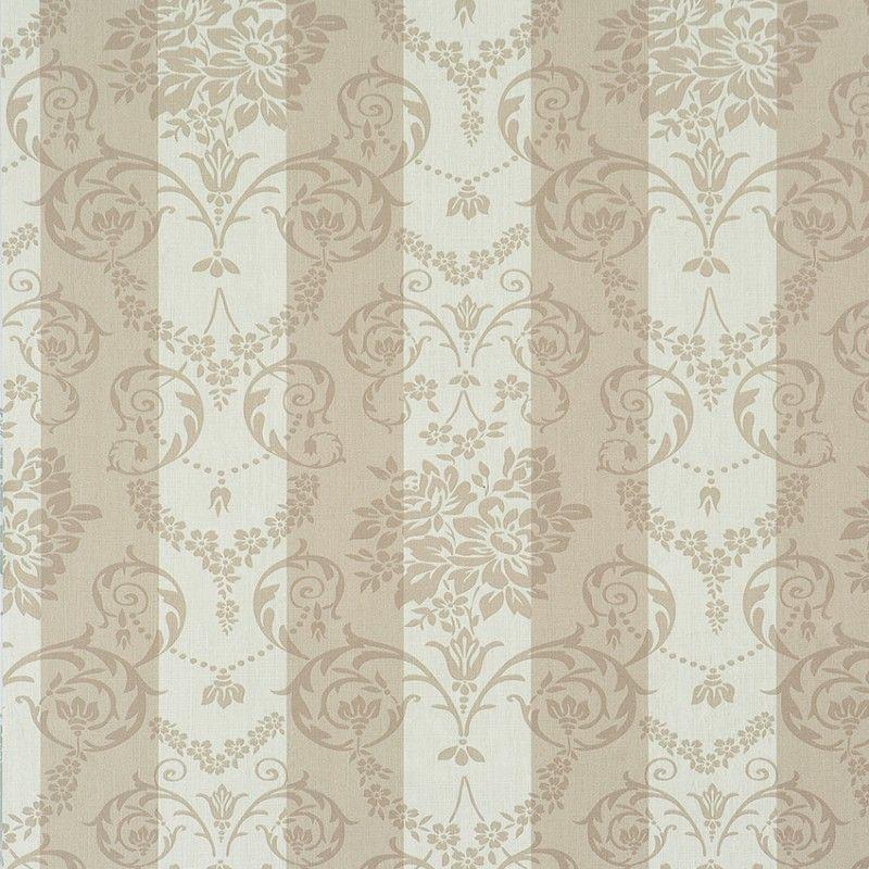 Tapete Avenue Stripe I Col. 02 | Barock Tapete In Den Farben Silber |  Grundton