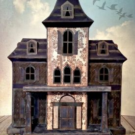 Create a Haunted House with just paper, ink and glue.